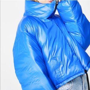 Dolls Kill Jackets & Coats - Dolls Kill all season reversible black blue puffer